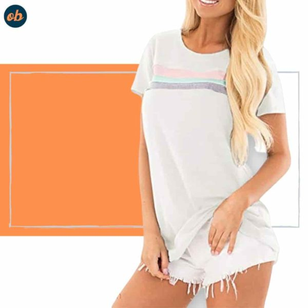 Color Block Striped T Shirts