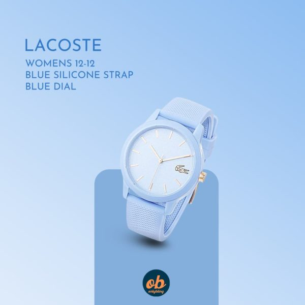 Lacoste   Womens 12-12   Blue Silicone Strap   Blue Dial   2001066