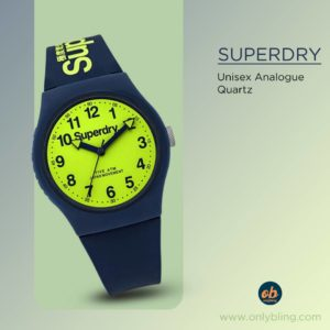 SUPERDRY Unisex Analogue Quartz Watch with Silicone Strap SYG164UN