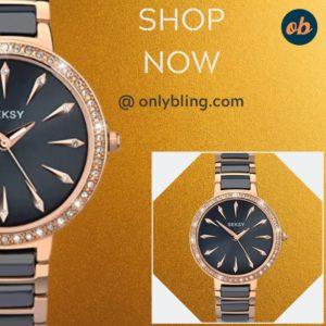 Seksy 2221, Women's Connected Wrist Watch, Navy Blue