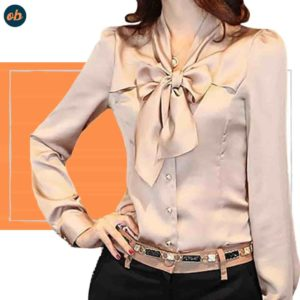 Bow Tie Neck Blouses Shirts