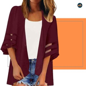 Chiffon Loose Cover Ups Outerwear Shrug