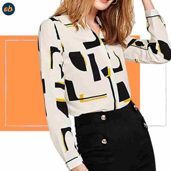 Stand Collar button up blouse