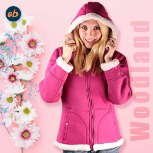 Woodland Supply Co. Women's Sherpa Lined Hooded Fleece Zip Jacket