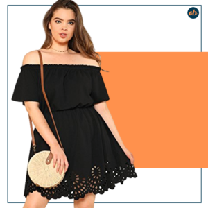 Plus Size Off Shoulder Short Dress