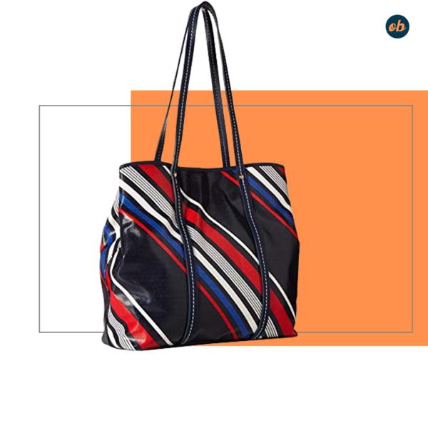 Tommy Hilfiger Diagonal Stripe Tote Bag
