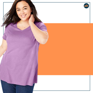 Plus Size Perfect V-Neck Tee