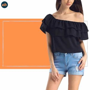 Off-Shoulder Ruffle Summer Top
