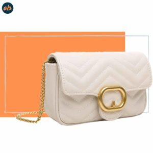 Cross-body Handbag with Chain Strap
