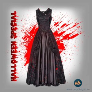 Halloween Witch Cosplay Long Maxi Dress