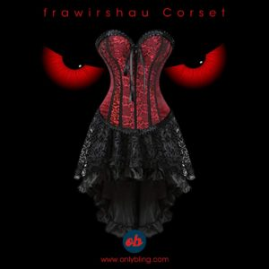 frawirshau Corset Dress Bustier Lingerie Corset Top and Steampunk Skirt Burlesque Costumes for Women Halloween Costume