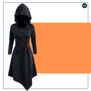Halloween Witch Dress Plus Size Hooded Blouse