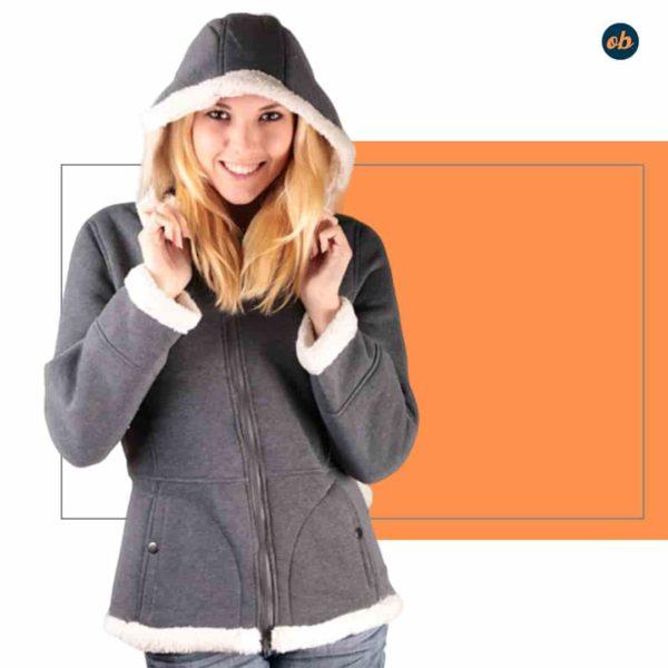Sherpa Lined Hoodie Outerwear Jacket