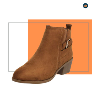 MVE Shoes Stylish Buckled Pointed Ankle Boot