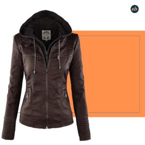 Leather Biker Jacket Outerwear