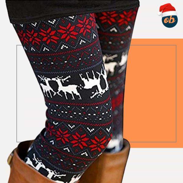 Ultra Soft Christmas Leggings Ankle Length Pants