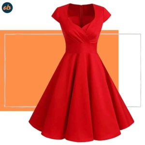 Valentine Cocktail Red Party Swing Dresses