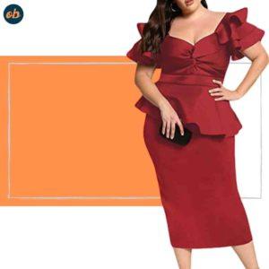 Valentine Plus-Size off-Shoulder Dresses