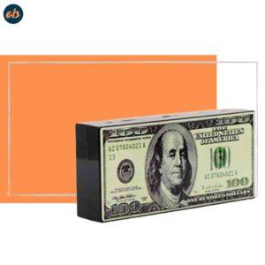Hearty Trendy Hundred Dollar Bill Box Clutch Handbag Shoulder Bag