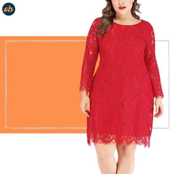 Valentine Plus-Size Short Red Dresses