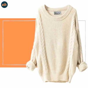 Slouchy Camel Loose-Knitted Top