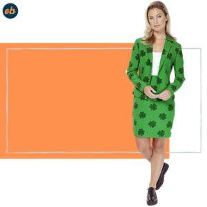 Printed Blazer and Skirt