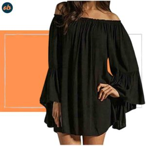 Off-Shoulder Victorian Sleeve Mini Dress